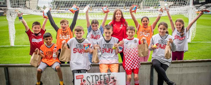 Young people enjoy the summer clubs at St Mirren
