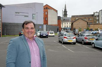 Cllr Nicolson in Weighhouse Close car park