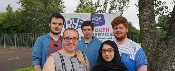 Renfrewshire Youth Voice volunteers