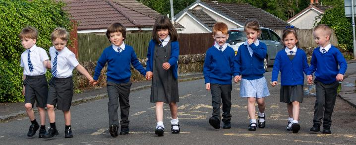 Four sets of twins starting primary one in the same school