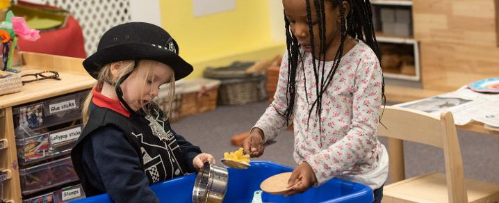 Toddlers learning through play at St Catherine's Early Learning and Childcare Centre