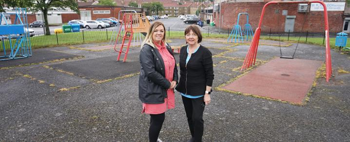 Laura Brown and Cllr Marie McGurk