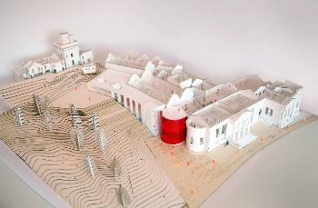 Paisley Museum model from above