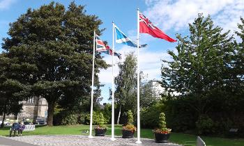 Merchant Navy Day flags