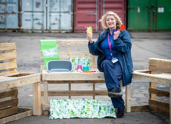 Gail Scoular mud kitchen