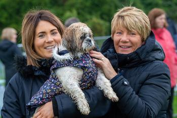 Lauren and Maureen Thomson with Bonnie