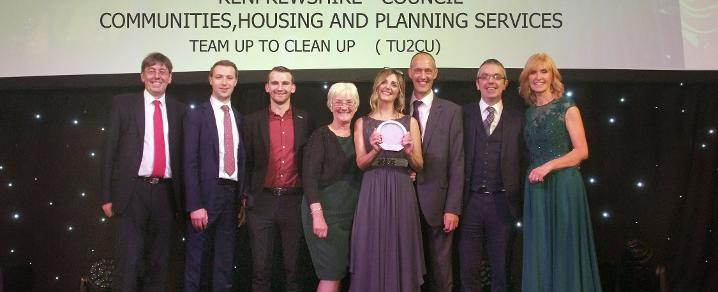 Team Up to Clean Up team at the COSLA Awards