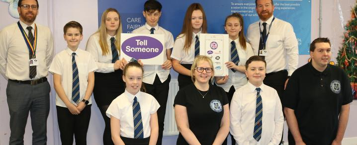 Renfrew High pupils with I Am Me Scotland