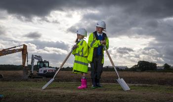 Inchinnan Primary pupils mark work starting on the Advanced manufacturing Innovation District Scotland (AMIDS)