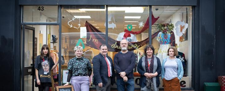 Carolyn Edmondson, Emma Owen, Council Leader Iain Nicolson, Dominic Snyder, Jane Dixon and Gillian Steel