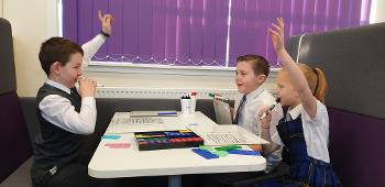 Heriot Primary School pupils learning maths
