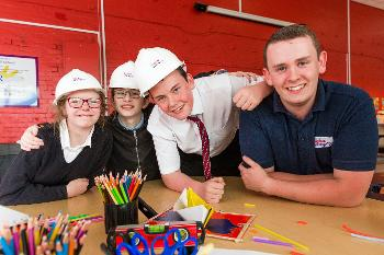 Mary Russell School pupils learning about the construction industry