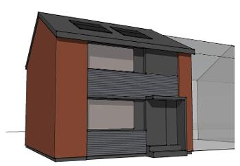 Artist impression of the exterior of the completed property