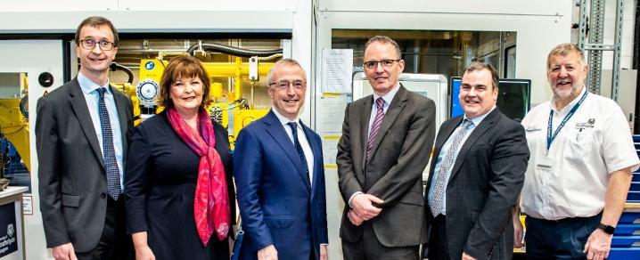 Invited guests at the Advanced Forming Research Centre to mark the Boeing Scotland Alliance