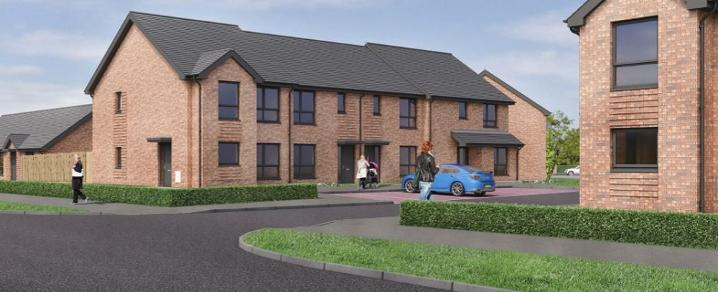 Artist's impression of new homes on Blackstoun Road