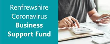 Graphic illustrating the Renfrewshire Coronavirus Business Support Fund