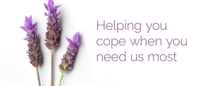 A graphic showing lavender illustrating the Renfrewshire Bereavement Network