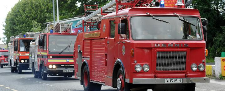 Fire Engine Rally in Johnstone town centre