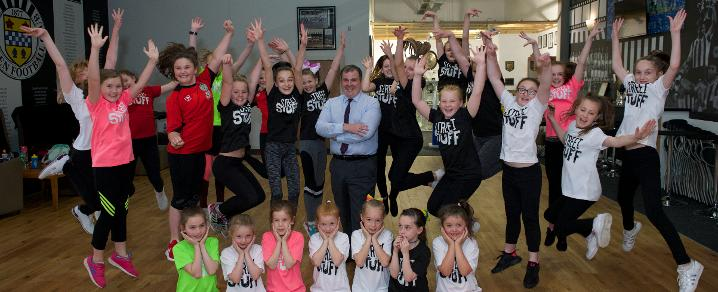 Council Leader visits Street Stuff summer camps at St Mirren Football Club