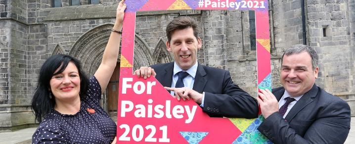UK Government Minister for Scotland Lord Duncan backs the Paisley 2021 bid