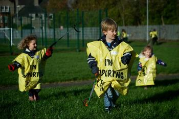 School pupils support a Team Up to Clean Up litter pick