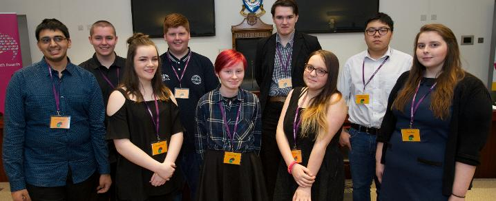 Members of the Renfrewshire Youth Commission on Mental Health