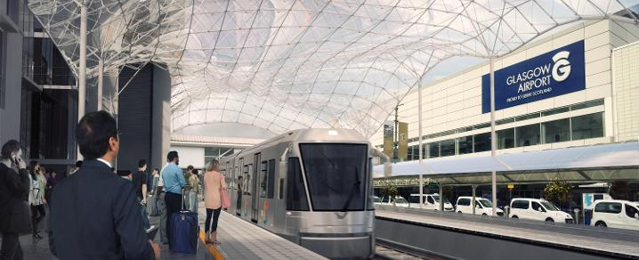 AAP - Artist impression of Tram Train at Glasgow Airport
