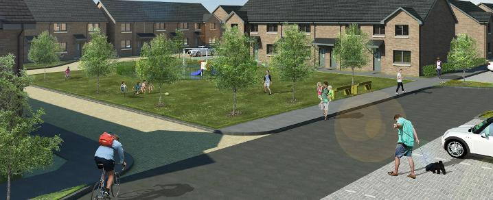 An artist impression of the new housing development at Love Street