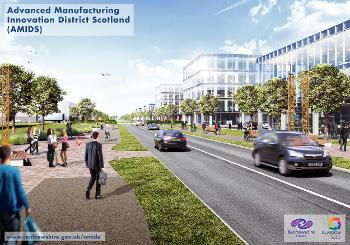 Artists impression of boulevard into innovation district