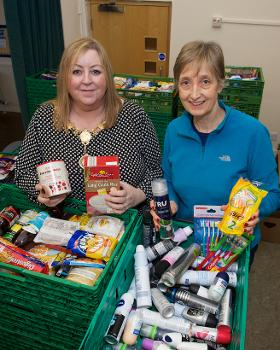 Provost at Foodbank