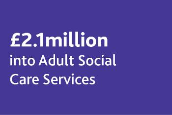 £2.1m adult social care
