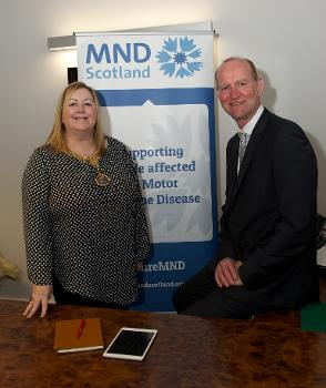 Provost with Iain McWhirter, MND Scotland