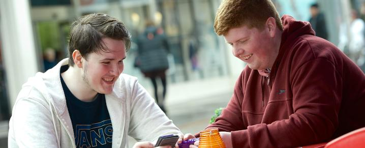 Young people in Paisley town centre