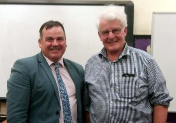 Council Leader Iain Nicolson and Bishopton Community Council chair David Woodrow
