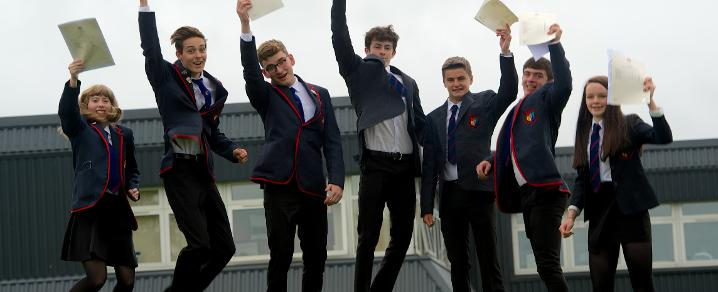 Gryffe High School pupils celebrate exam results