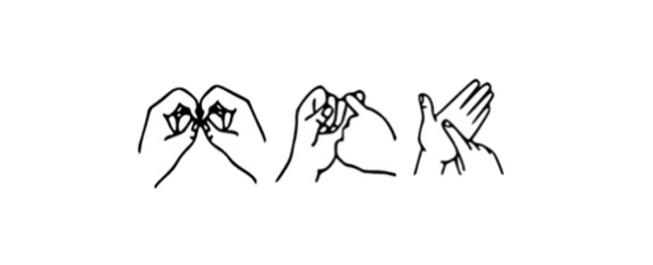 Letters BSL signed in British Sign Language