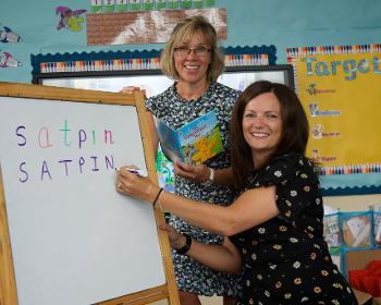 Teachers Reid and Wright to teach kids literacy skills 2