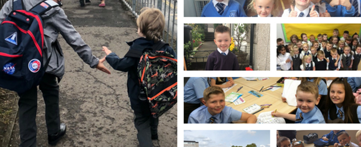 Collage of pupils heading back to school as 2018 term begins