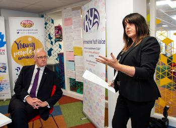 Launch of Young Scot attainment challenge - YS Chief Executive Louise Macdonald