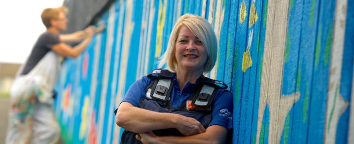 Gail Scoular at Spateston underpass