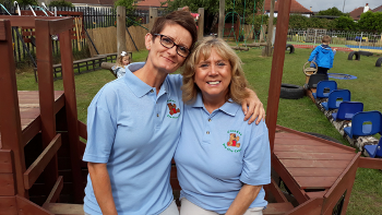 Glendee Early Learning and Childcare Centre Nursery Officers Sandra Kennedy and Grace Kelly