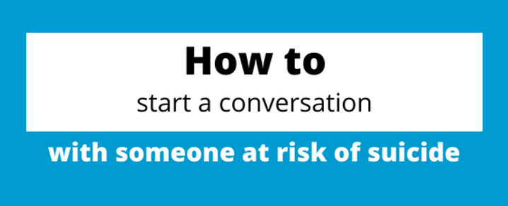 Suicide Prevention Week - how to start a conversation