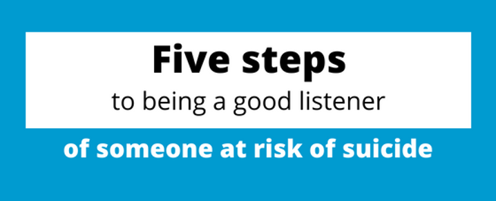 Suicide Prevention Week - how to be a good listener