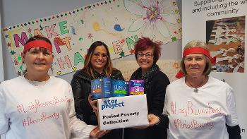STAR Project Period Ninjas with Councillor Michelle Campbell and Sharon McAulay