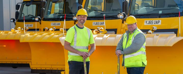 Gritter drivers Eric and John