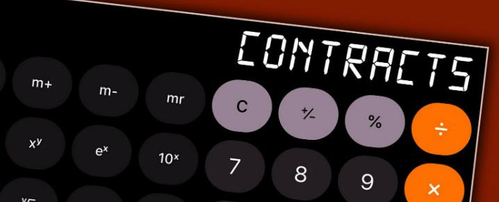 A graphic illustration of a contract calculator - photo credit: Mike Lawrence
