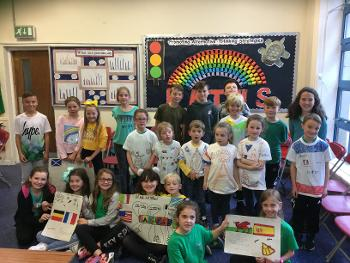 Winners of European Day of Languages activities at Bishopton Primary School