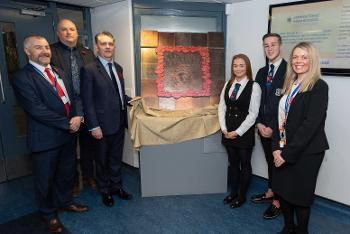 Johnstone High memorial unveiling - pupils & staff -November 2018