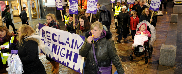 Residents marching in the Reclaim the Night march in 2016.