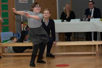 Riverbrae School pupils dancing